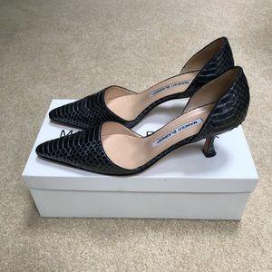 Manila Blahnik D'orsay heels sz 36